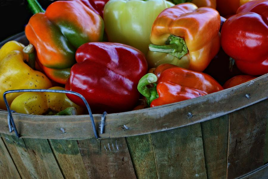Peppers Photograph - A Peck Of Peppers by Nikolyn McDonald