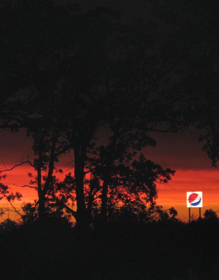 Sunset Photograph - A Pepsi Sunset by Shelia Howe