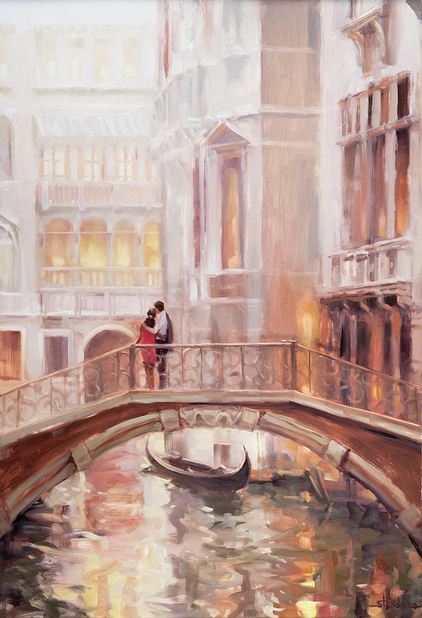 Romantic Painting - A Perfect Afternoon In Venice by Steve Henderson