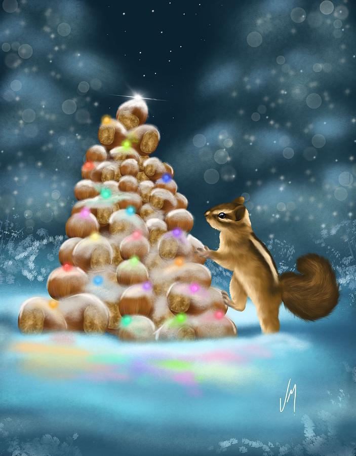 Christmas Painting - A Perfect Christmas Tree by Veronica Minozzi