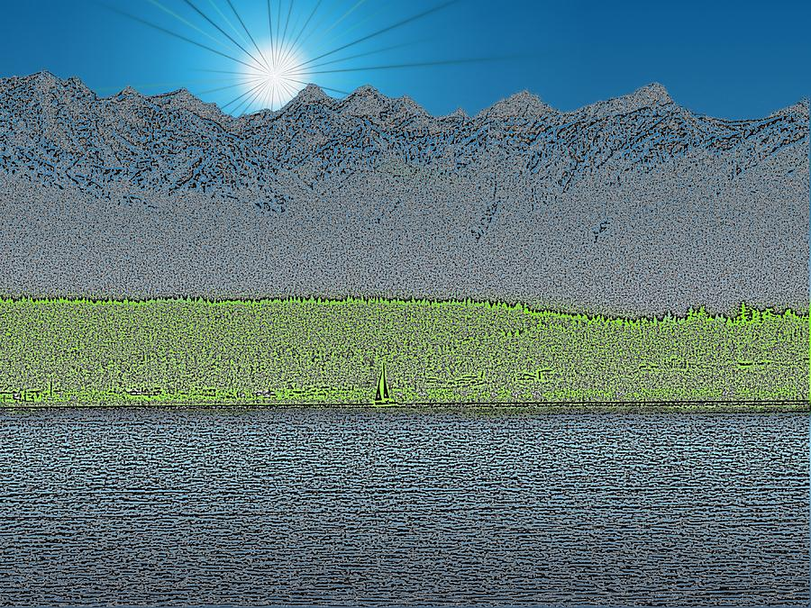 Sailboat Digital Art - A Perfect Ending by Tim Allen