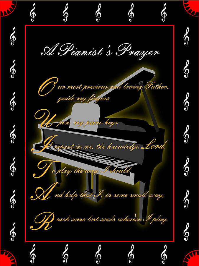A Pianists Prayer_1 Digital Art by Joe Greenidge