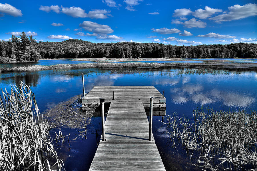 Adirondack Photograph - A Place To Dock On The Moose by David Patterson