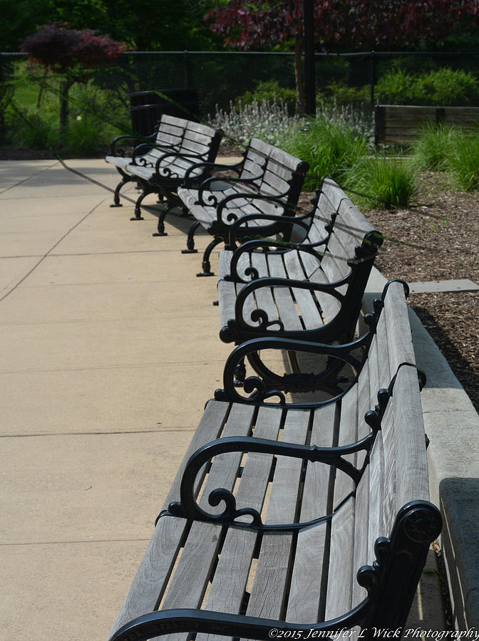 Benches Photograph - A Place To Sit by Jennifer Wick