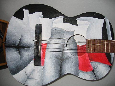 Guitar Painting - A Polish Arsehole by Cheryl Loom