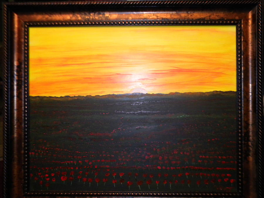 Nature Painting - A Poppy Sunset by Chris Heitzman