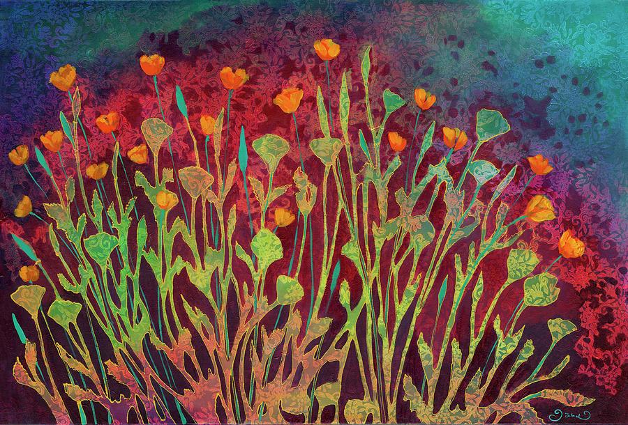 A Poppy Tapestry Painting
