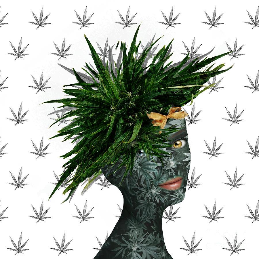 Green Digital Art - A Portrait Of Many Jane by Nola Lee Kelsey