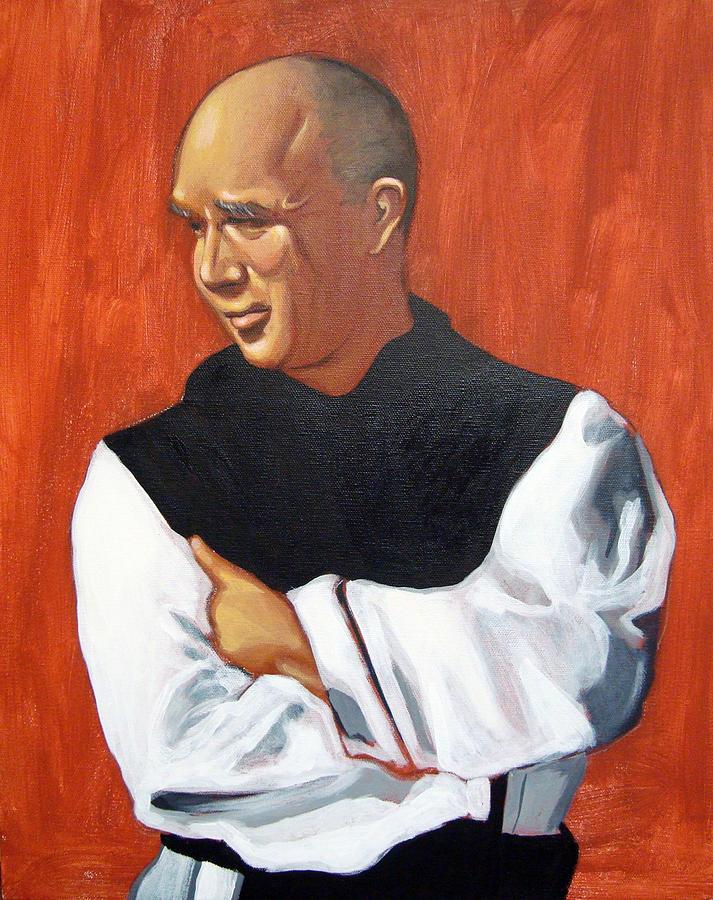 Portrait Painting - A Portrait Of Thomas Merton by Joseph Malham