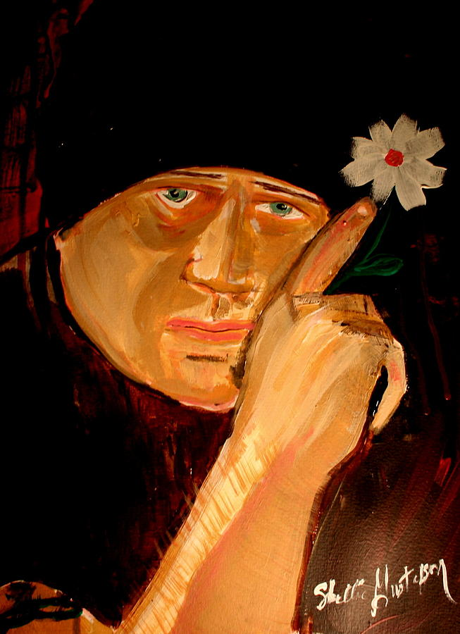 A Potrait Of An Artist Painting by Shellie Gustafson