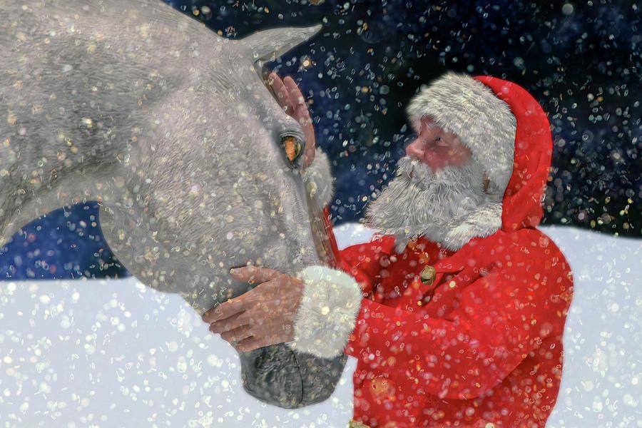 Santa Digital Art - A Present For Santa by Betsy Knapp