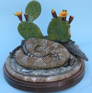 A Prickly Affair Sculpture by Bob Scheelings
