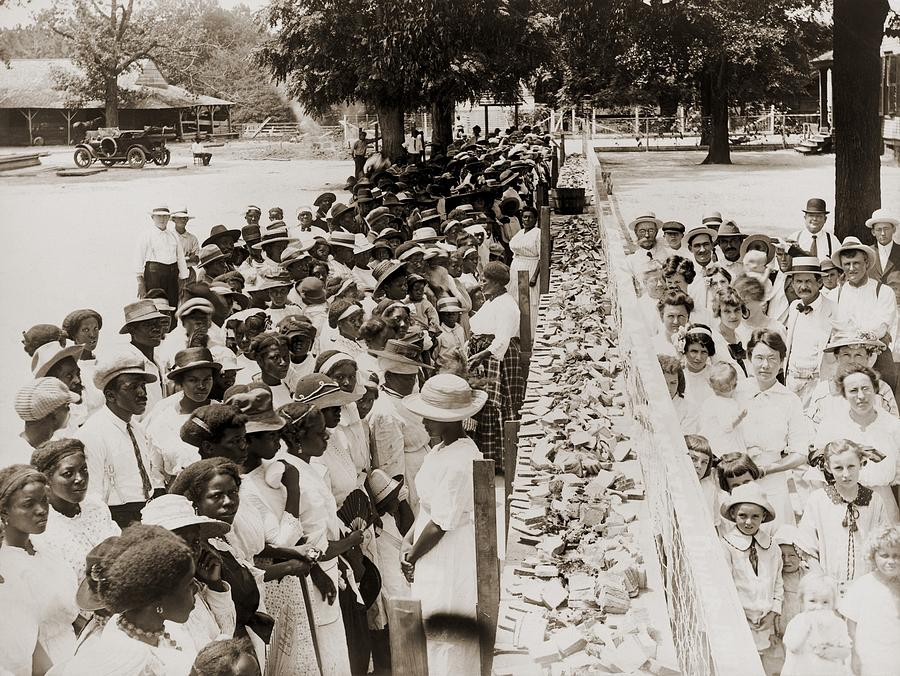 History Photograph - A Properly Segregated Summer Social by Everett