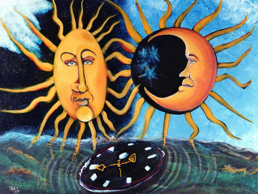 Sun Painting - A Quarter Til Becoming One by Dennis Tawes