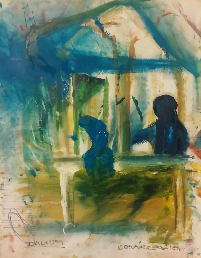 A Quiet Conversation Painting by Gregory Dallum