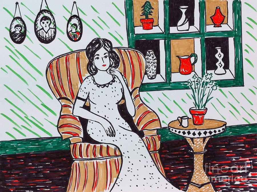 Quiet Drawing - A Quiet Moment by Heather McFarlane-Watson