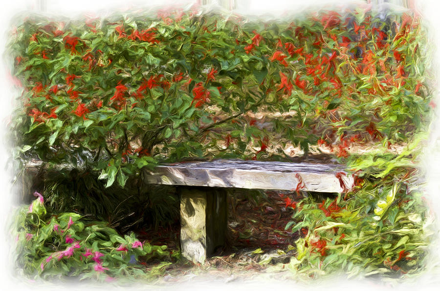 Flower Garden Photograph - A Quiet Place by Carolyn Marshall