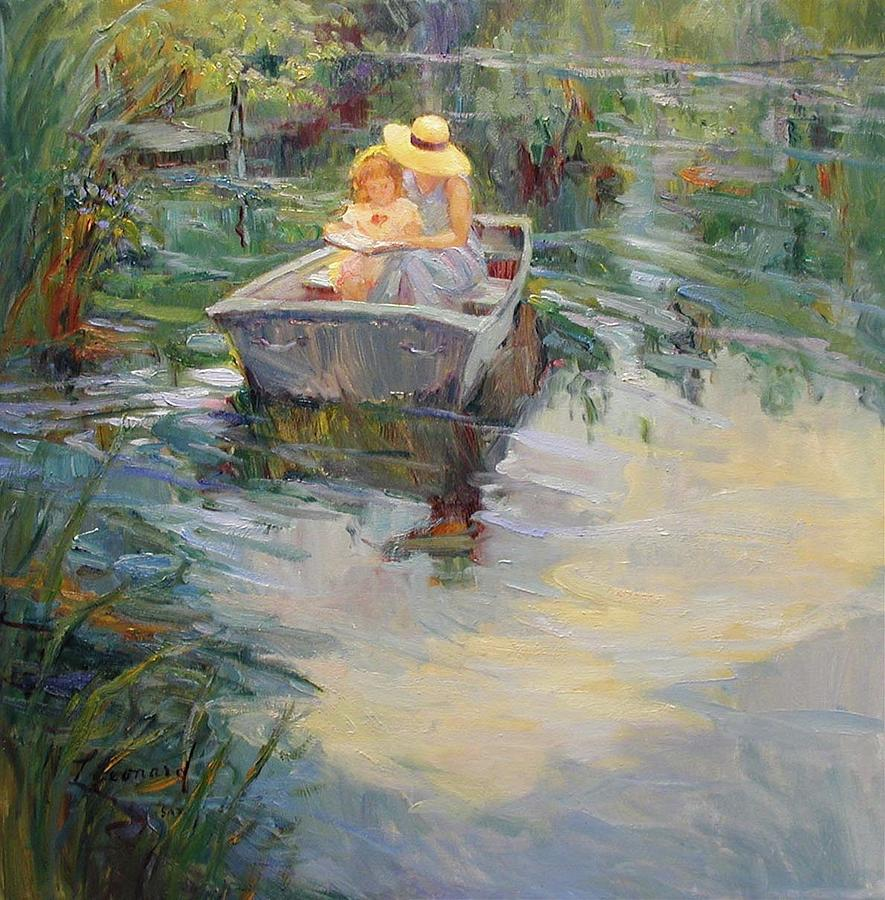 Pond Painting - A Quiet Place by Diane Leonard