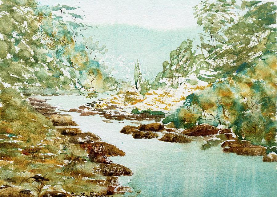 Australia Painting - A Quiet Stream In Tasmania by Dorothy Darden