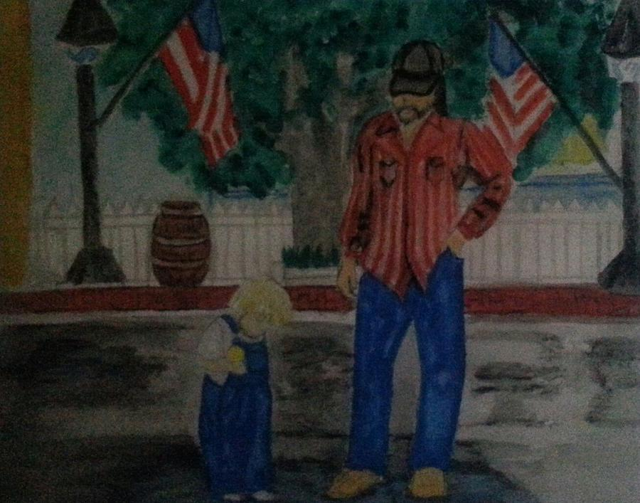Nostalgic Painting - A Rainy July 4th by Terri Smith Asbury