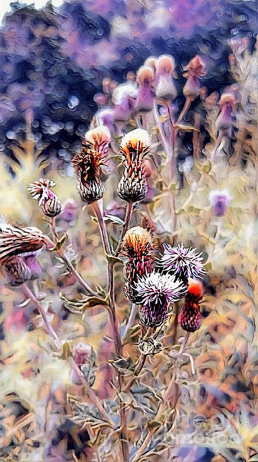 Thistle Digital Art - A Rather Thorny Subject by Isabella Shores