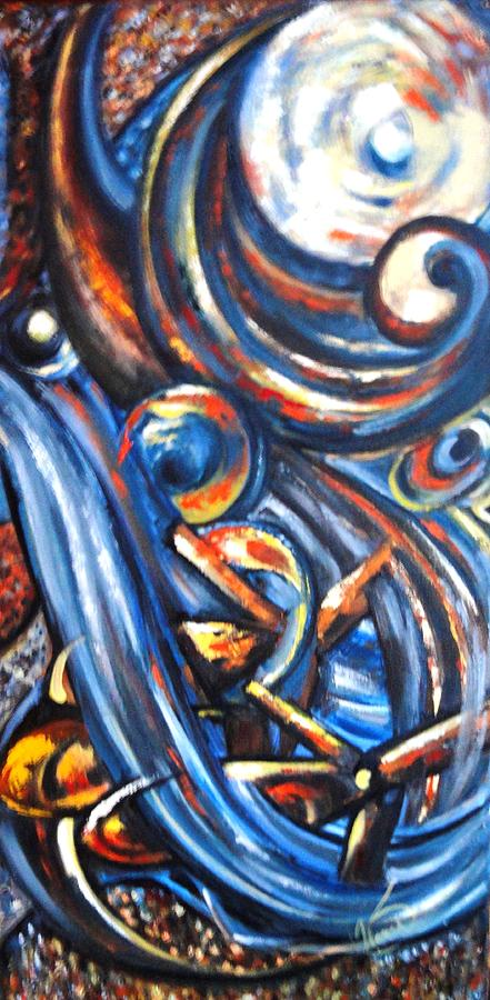 Abstract Painting - A Ray Of Hope 4 by Harsh Malik