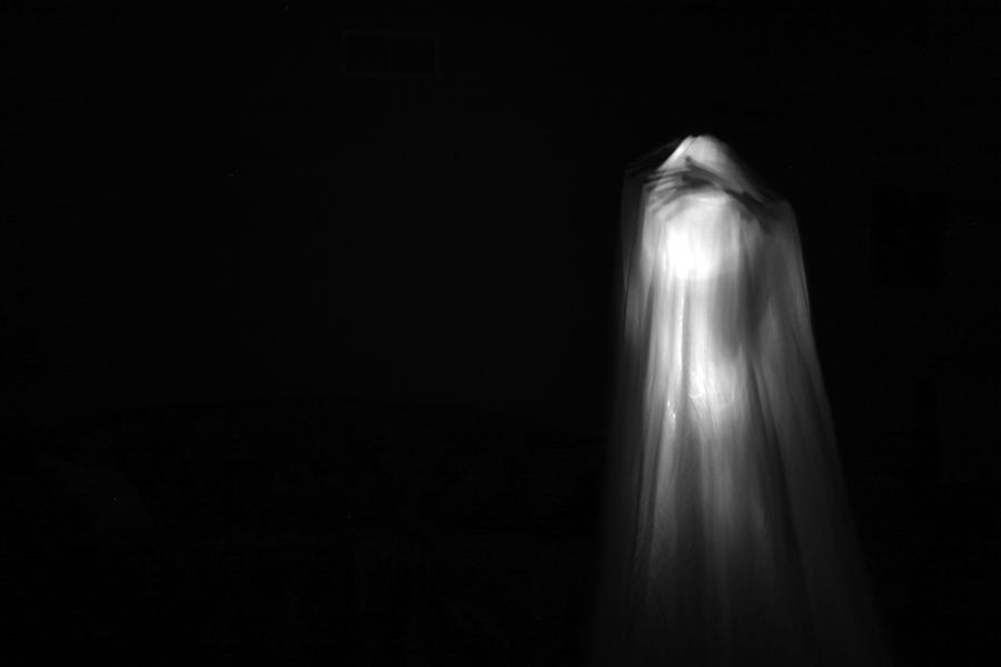 Ghost Photograph - A Real Ghost Photo by Michael Ledray