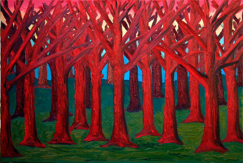 Abstract Painting - A Red Wood - Sold by Paul Anderson