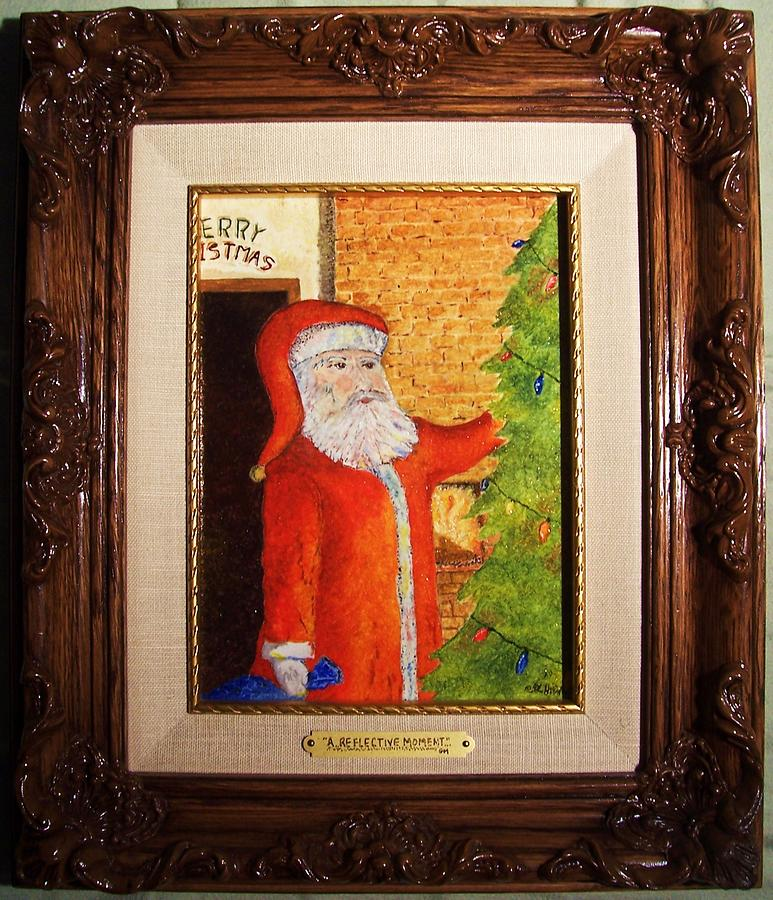Santa Claus Painting - A Reflective Moment by Glenn McCarthy Art and Photography