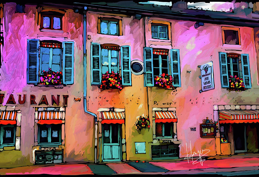 A Restaurant In Beaune, France Painting