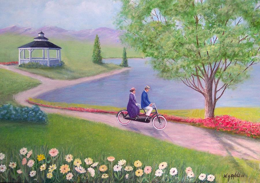 Landscape Painting - A Ride In The Park by William Ravell