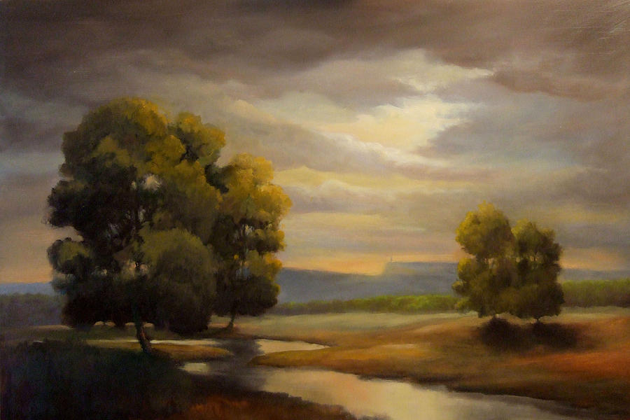 Landscape Painting - A River Flows Through It by Kevin Palfreyman