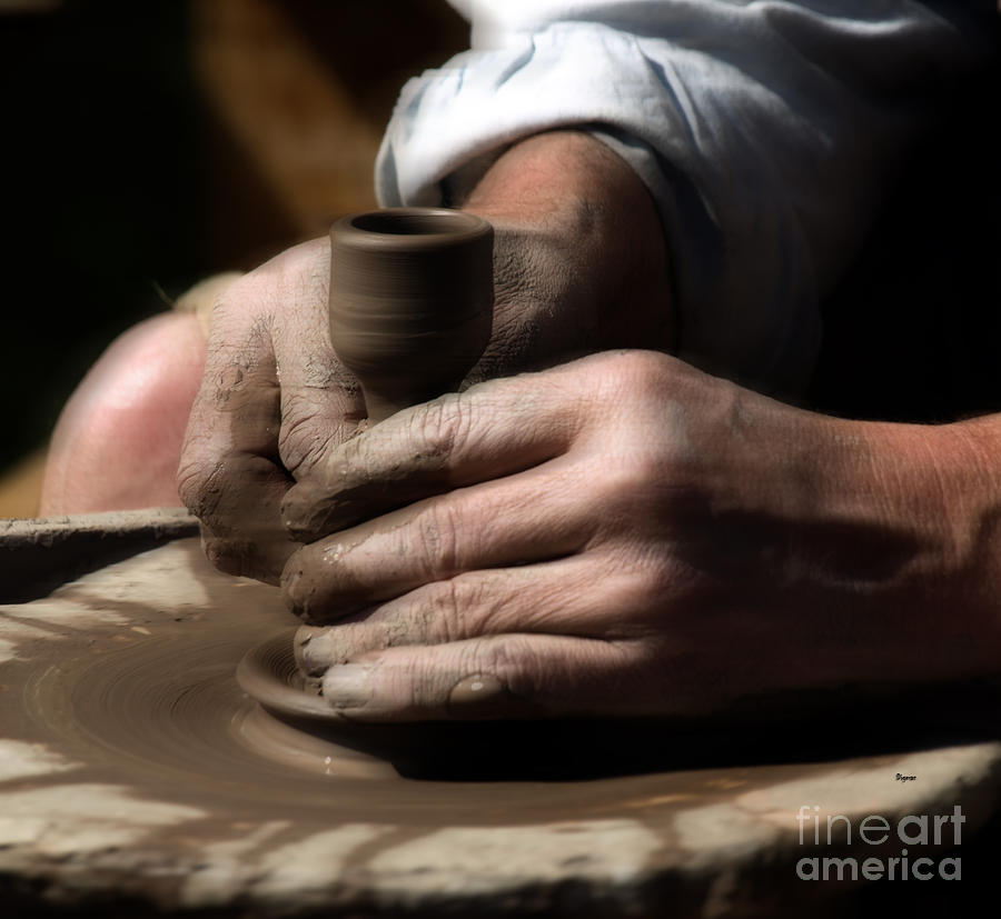 Pottery Photograph - A River of Hands by Steven Digman