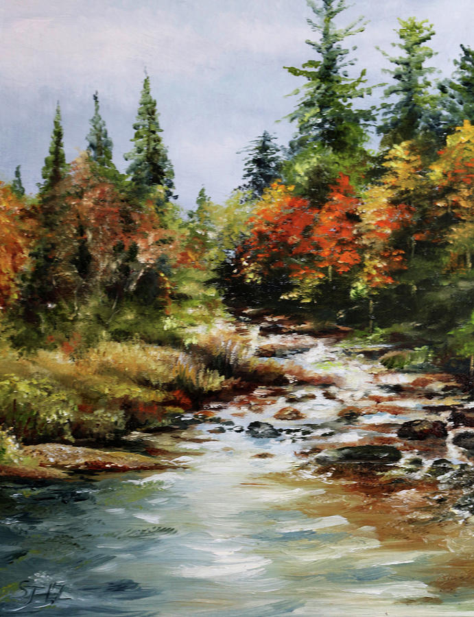 Oil Painting - A River Runs by Steve James
