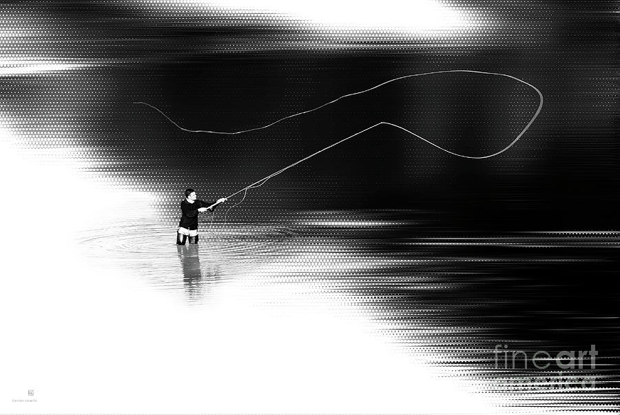 Fishing Photograph - A River Runs Through It by Hannes Cmarits