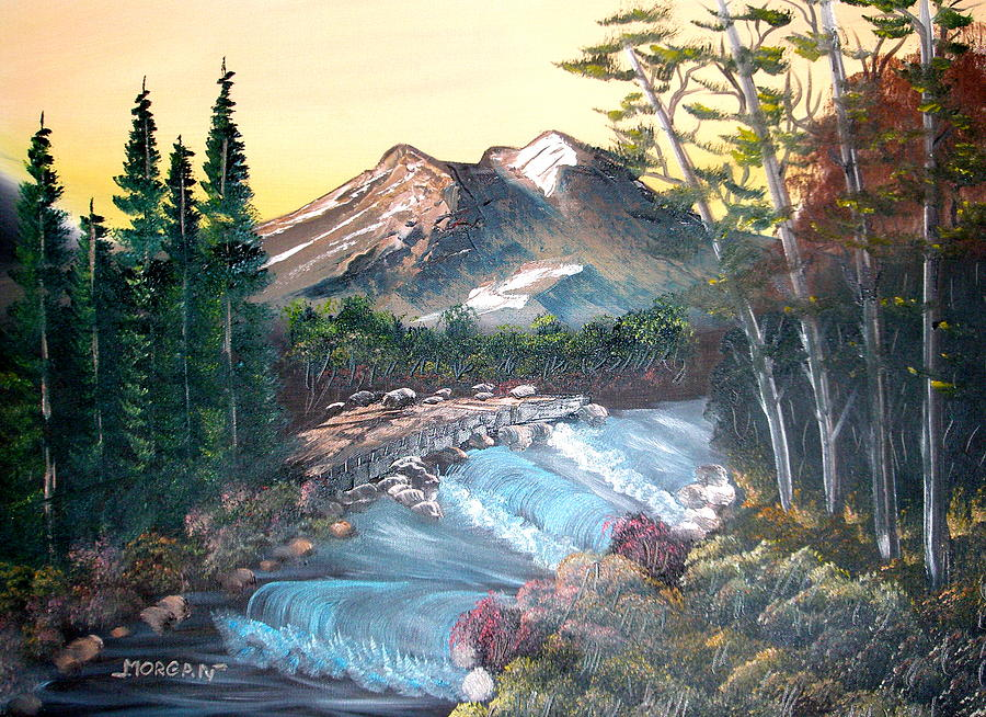 Landscape Painting - A River Runs Through It by Sheldon Morgan