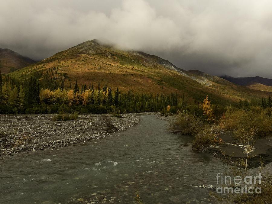 Alaskan River Photograph - A River Runs Through The Brooks Range Alaska by Teresa A and Preston S Cole Photography