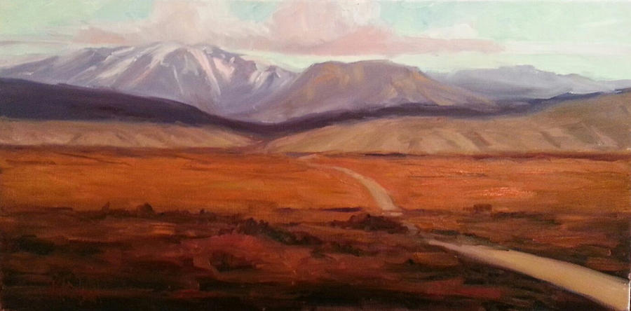 Mountain Painting - A Road Less Traveled by Billie Colson