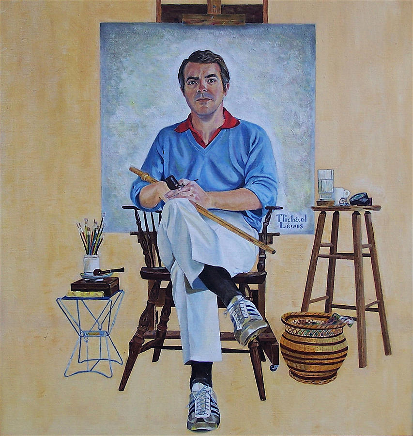 Portraiture Painting - A Rockwell Tribute by Michael Lewis