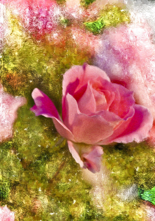 Flower Digital Art - A Rose Among . . . by Ches Black