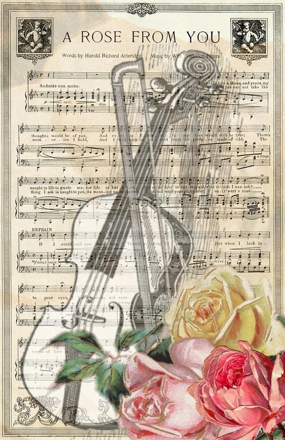 A Rose From You Vintage Sheet Music
