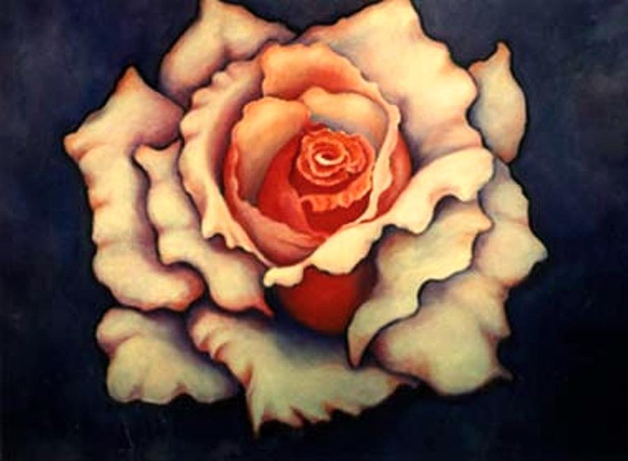 Flower Painting - A Rose by Jordana Sands