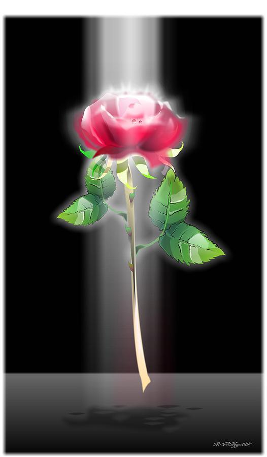 A Rose Digital Art by William R Clegg