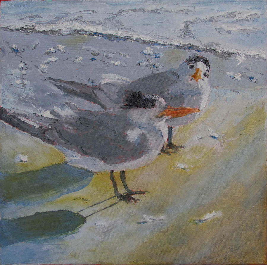 Tern Painting - A Royal Tern by Libby  Cagle