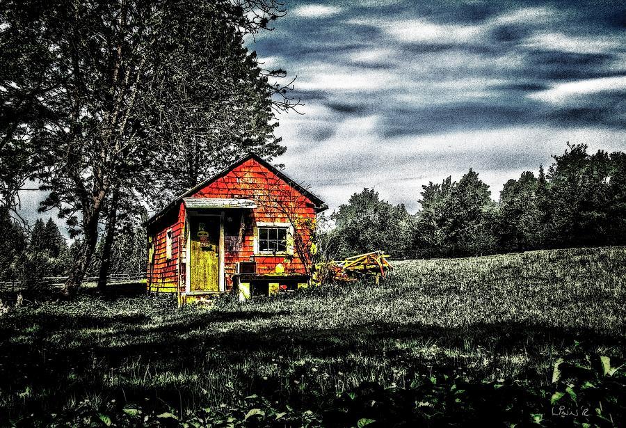 Farm Digital Art - A Ruskin Shed by Bill Linn
