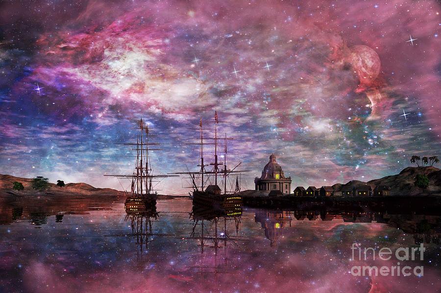 Anchor Digital Art - A Safe Anchorage by John Edwards