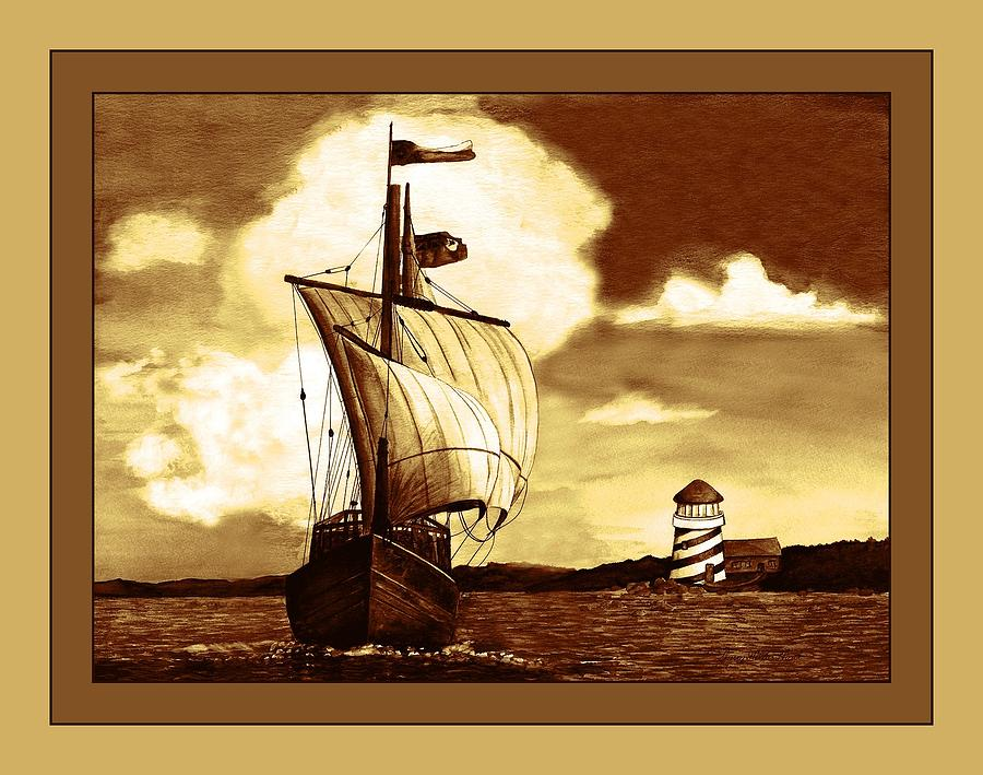 Painting Mixed Media - A Sailin 2 by Sherry Holder Hunt