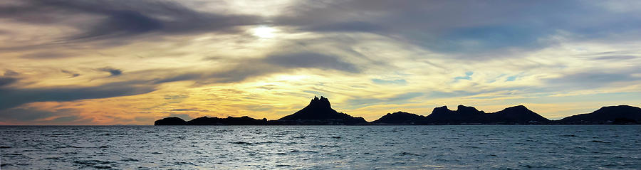 Scenic Photograph - A Scenic Ocean Sunset View Of Tetakawi Mountain And San Carlos,  by Derrick Neill
