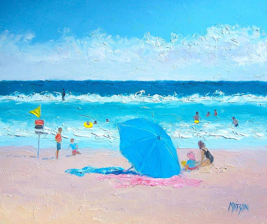 Beach Painting - A Sea Breeze by Jan Matson