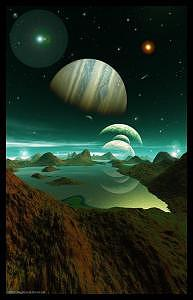 Planets Digital Art - A Sea Of Green by Graham Conrad
